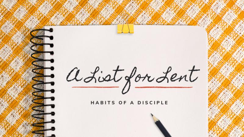 A List for Lent